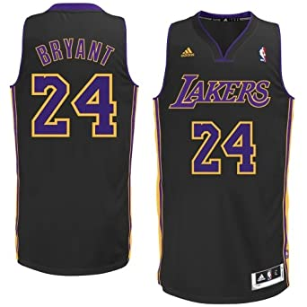 Los Angeles Lakers Adidas Black Kobe Bryant Swingman Revolution 30 Jersey by adidas