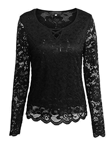 SunIfSnow - Camicia - Basic - Maniche lunghe  -  donna Black Medium