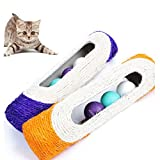teambuckle 1 Pet Cat Kitten Kitty Toy Rolling Sisal Scratching Post 3 Trapped Ball Training