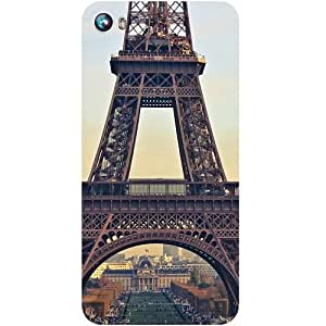Casotec Eiffel Tower Design Hard Back Case Cover for Micromax Canvas Fire 4 A107