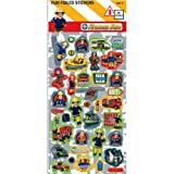 Fireman Sam Pack of 36 Foiled Stickers