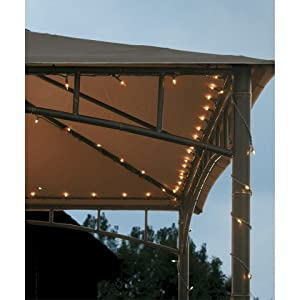 Outdoor String Lights For Gazebo : Amazon.com - Threshold 140 Count Gazebo String Mini Lights 103.75 Length