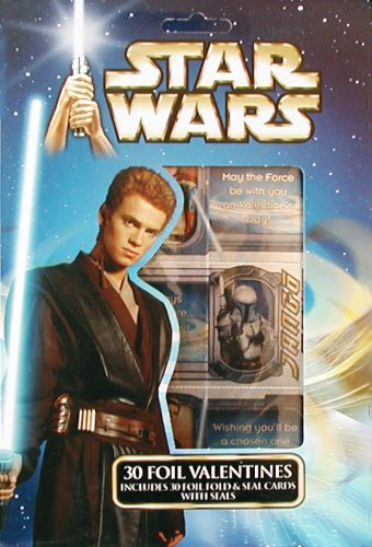 30 Star Wars Foil Valentines from 2002 - 1