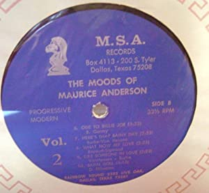The Moods Of Maurice Anderson, Volume Two: Progressive/Modern Label: