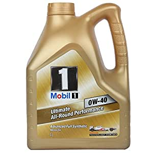mobil 1 0w 40 fully synthetic oil for cars 4 l amazon. Black Bedroom Furniture Sets. Home Design Ideas