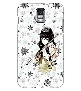 PrintDhaba Music Girl D-1113 Back Case Cover for SAMSUNG GALAXY S5 (Multi-Coloured)