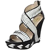 sandals resort:House associated with Harlow ladies Veronika sand wedge Sandal,White-Black,7 michael US