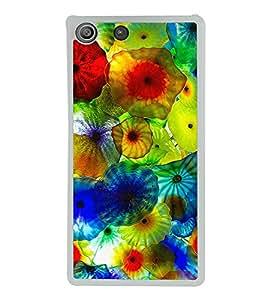 Multi colour Jelly fish 2D Hard Polycarbonate Designer Back Case Cover for Sony Xperia M5 Dual :: Sony Xperia M5 E5633 E5643 E5663