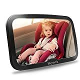 Shynerk Baby Car Mirror, Safety Car Seat Mirror for Rear Facing Infant with Wide Crystal Clear View, Shatterproof, Fully Assembled, Crash Tested and Certified