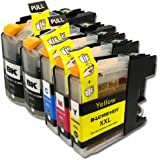 YoYoInk Compatible Replacement for Brother LC103 103 Ink Cartridges (2 Black , 1 Cyan , 1 Magenta , 1 Yellow , 5 Packs) for Brother DCP-J132W DCP-J152W DCP-J172W DCP-J4110DW DCP-J552DW DCP-J752DW MFC-J245 MFC-J285DW MFC-J4310DW MFC-J4410DW MFC-J450DW MFC-J4510DW MFC-J4610DW MFC-J470DW MFC-J4710DW MFC-J475DW MFC-J650DW MFC-J6520DW MFC-J6720DW MFC-J6920DW MFC-J870DW MFC-J875DW - With Ink Level Display Indicator