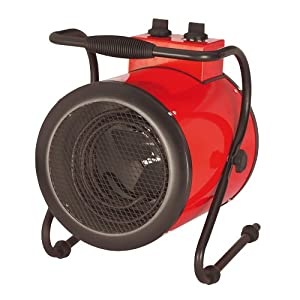 3kW 3000W Electric Round Cylinder Garage Workshop Shed Tilting Fan Heater Heating with Thermostat Control