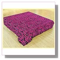 Microfiber Zebra Print Pink and Black Queen Blanket