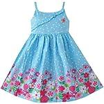 Girls Dress Blue Tank Detailed Floral Sundress Size 6