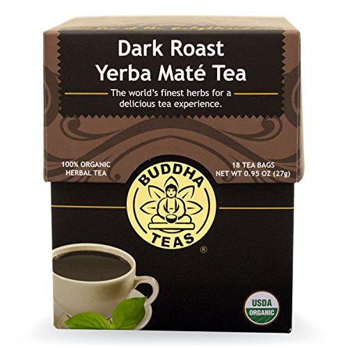 Dark Roast Yerba Maté Tea - Organic Herbs - 18 Bleach Free Tea Bags (Yerba Mate Tea Dark Roast compare prices)