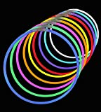 "50 Premium Lumistick 22"" Glow Stick Glow Necklaces - Assorted Color Mix"