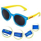 HODGSON Kids Polarized Sunglasses, Silicone Sunglasses for Boys Girls (Age 3-12)