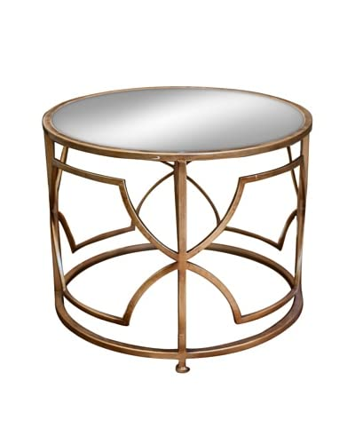 Iron Geo Accent Table, Antique Gold As You See