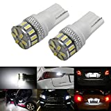 iJDMTOY (2) Super Bright 3014-SMD 168 175 194 2825 W5W T10 LED Bulbs For Car Interior & Exterior Lights Replacement, Xenon White thumbnail