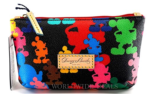 dooney-and-bourke-disney-wonder-mickey-mouse-cosmetic-case-black-and-multi-colored-bag-new-with-tag