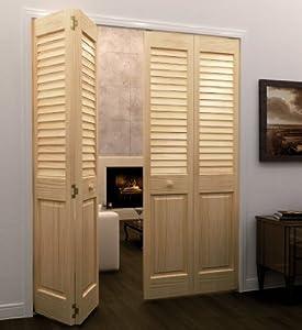 Bi fold door louver panel plantation 1x24x80 home kitchen - Plantation louvered bifold doors ...