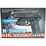 Moradiya Fresh Blossom Air Sport Laser Kids Toy Air Gun With Red Laser & Blue Light Pistol