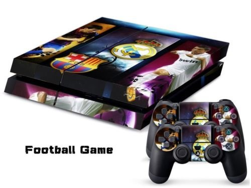 2612 Game Room® : Playstation 4 Vinyl Skin Console Skin & Remote Controllers Skin - Best Soccer Ball Lionel Messi Team Sticker By Asia Trendy Shop