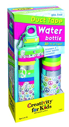 Creativity for Kids Duct Tape Water Bottle (Kids Personalized Water Bottle compare prices)