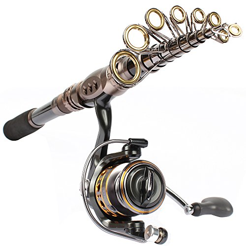 Shelure carbon fiber fishing rod and spinning reel combo for Open reel fishing pole