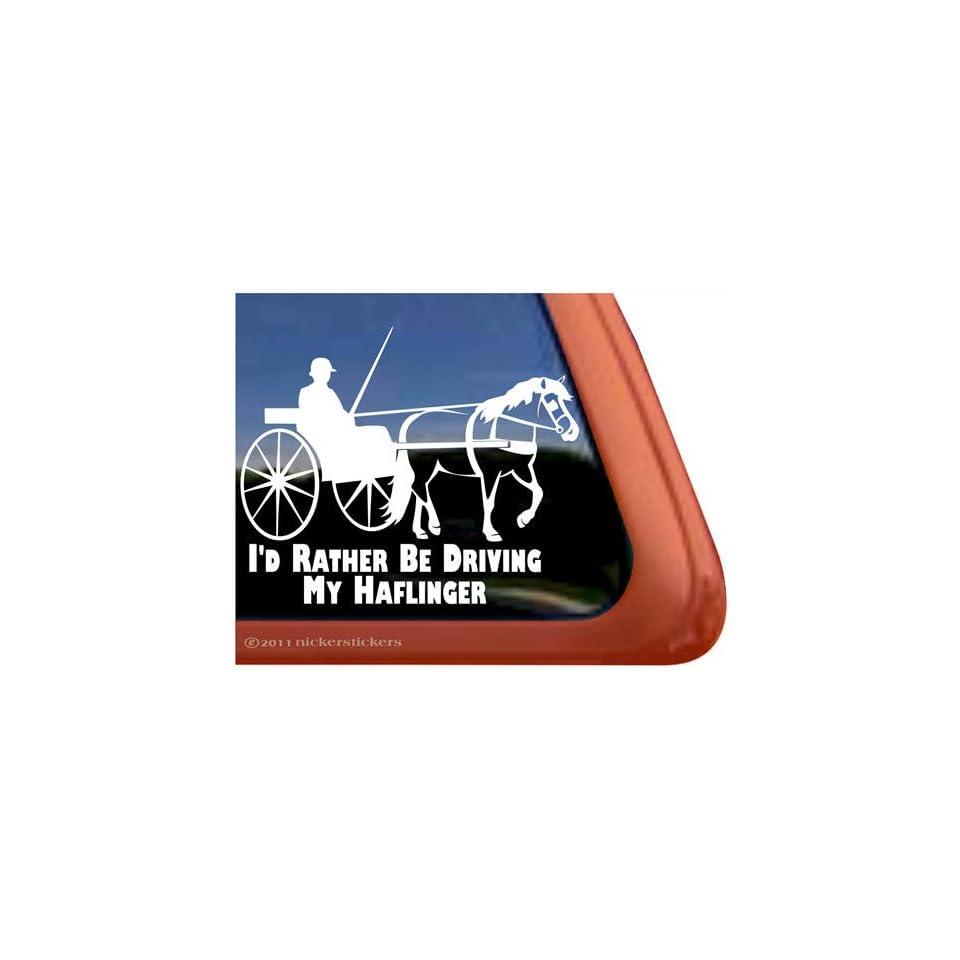 Haflinger Horse Driving Horse Trailer Vinyl Window Decal Sticker