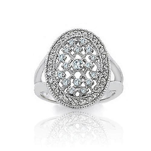 Bling Jewelry Twilight Inspired Bella's Engagement Ring Sterling Silver Bezel CZ