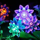 Fuloon 10M 80灯 はすの花庭園ガーデンライト ロープライト 自動点灯 イルミネーション「6色選べる」 クリスマス、パーティー、結婚式 (カラー)