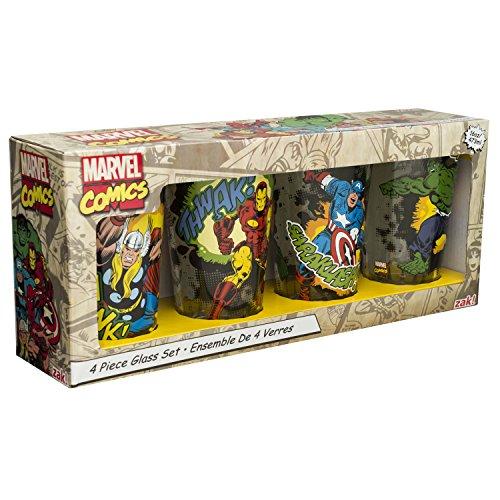 zak-designs-mrti-4241-marvel-comics-retro-glass-tumbler-set-of-4-16-oz-multicolor