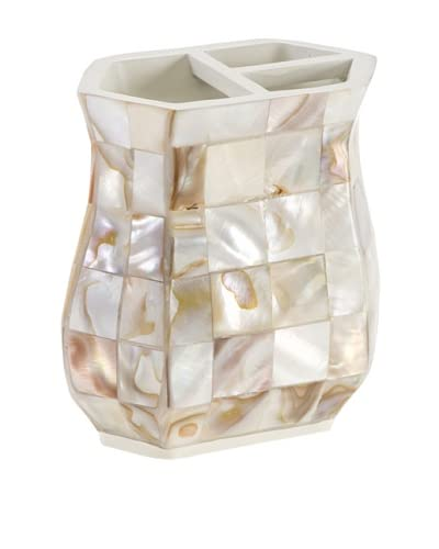 Creative Scents Milano Toothbrush Holder, Mother of Pearl