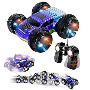 Amazon Com Double Sided Remote Control Car Power Stunt