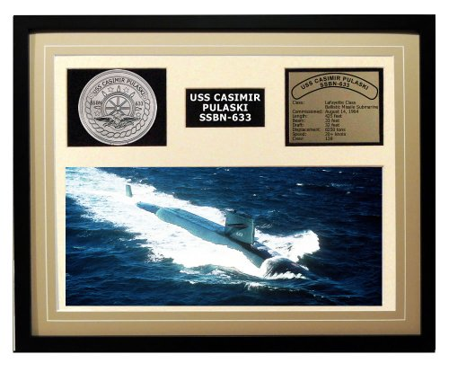 Navy Emporium USS Casimir Pulaski SSBN 633 Framed Navy Ship Display торшер leds c4 emporium 25 1858 i1 55