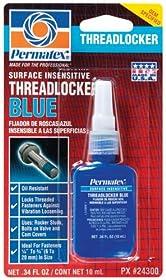 Permatex 24300-6PK Surface Insensitive Threadlocker Blue, 0.34 oz. (Pack of 6)