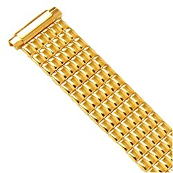 Watch Band Expansion Metal Stretch Gold Plated fits 10mm 11mm 12mm 13mm 14mm