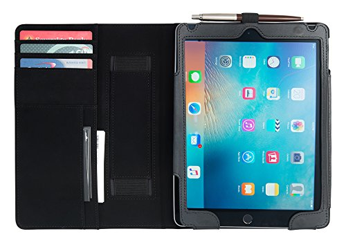 Secure Case for Apple Ipad Air 2, Executive Padfolio Style, Multiple Stand Positions. W/ Rfid Secured Credit Card & Slots, and Storage for Documents, Pens, Business Cards, Lifetime Warranty (Position Secured compare prices)