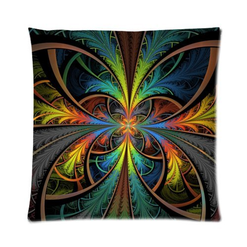 Psychedelic Trippy Colorful Art Zippered Pillowcase