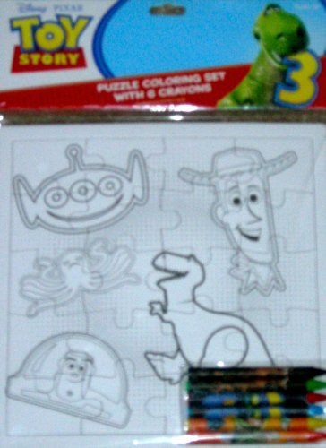 Disney Toy Story Puzzle Coloring Set with 6 Crayons - 1
