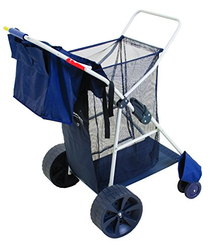 Rio Beach Wonder Wheeler Wide Beach Cart (Beach Tote With Wheels compare prices)