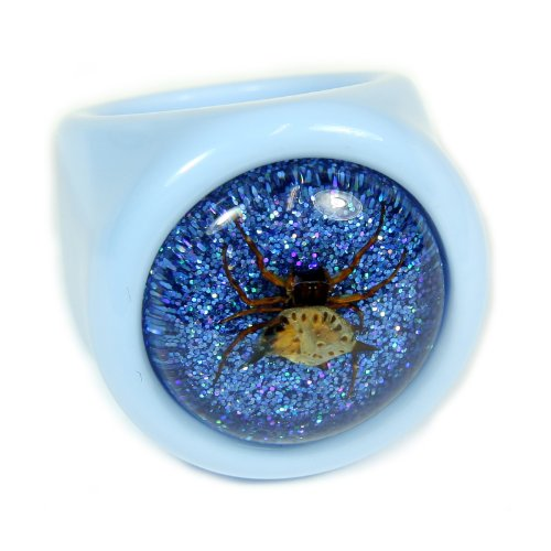 Spiny Spider Blue Ring Size 6