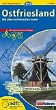 ADFC-Regionalkarte Ostfriesland mit Tagestouren-Vorschlägen, 1:75.000, reiß- und wetterfest, GPS-Tracks Download: Mit allen ostfriesischen Inseln