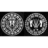 DollsofIndia Set Of Two White Ritual Print On Transparent Sheet - Ritual Print On Sticker For Wall Or Floor Decoration... - B00LD5GSX4