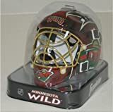Franklin Sports 7784F33 NHL Mini Goalie Mask,Minnesota Wild