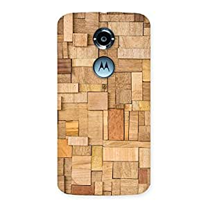 Special Wood Blocks Pattern Back Case Cover for Moto X 2nd Gen
