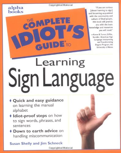 The Complete Idiot's Guide to Learning  Sign Language PDF