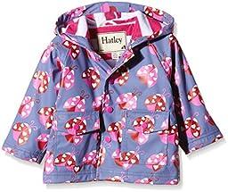 Hatley Baby Ladybug Garden Infant Raincoat, Purple, 6-12 Months