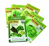 Ferry-Morse 3241 Organic Seed Collection, Greens (14.45 Gram Packet)