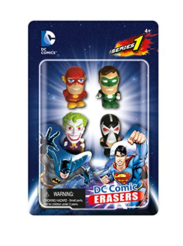 DC Comics Eraser Pack Set B (4-Piece)